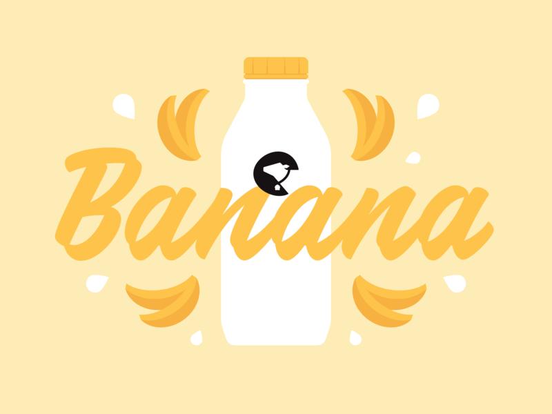 Moo House Flavor Marketing food flavor social farm fresh logo design brand illustration cow dairy milk banana