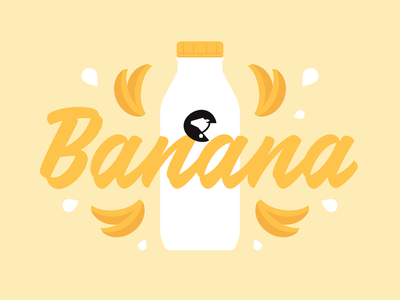 Moo House Flavor Marketing food flavor social farm fresh logo design brand illustration cow dairy milk banana