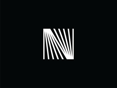 Nerdery Brand Refresh pattern lines line icon minimal brand logo design white black