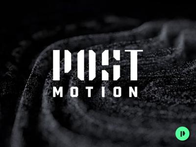 Post Motion animated minimal business card black green motion identity brand logo design