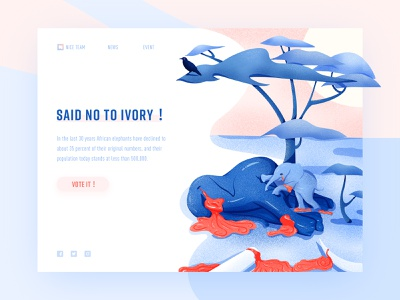 said no to ivory ! web ui color clean illustration