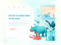 Reject rhinoceros horn big