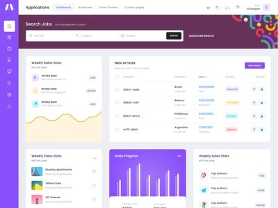 Super excited to release these new goodies soon... uiux menu table directory search pattern sidebar webapp design graph flat ux chart ui dashboard product app admin bootstrap