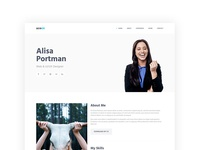 AceCV – Professional CV Parallax Bootstrap Template