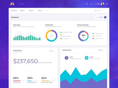 Metronic 5 - Bootstrap Admin Dashboard - Demo 4 website webapp ux ui product graph flat dashboard chart bootstrap app admin