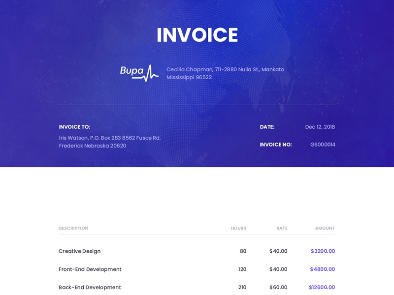 Invoice preivew