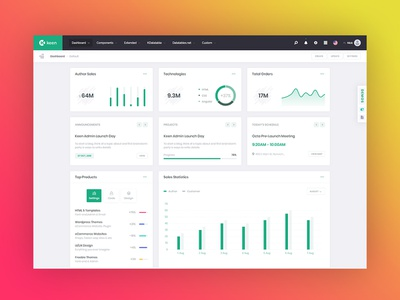 Offcanvas based Demo 5 for Keen Admin is LIVE! chart graph webapp app admin flat ui ux dashboard bootstrap