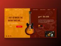 Guitar Store - Homepage homepage web design product branding music bb king gibson visual design ui ux guitar store