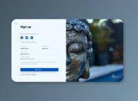 Daily UI Challenge #1 web design sign up buddha spa dayliui ui  ux ui challenge