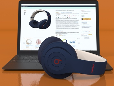Headphone And Laptop - 3D Product Rendering by Renderingline 3d art product design 3d artist 3d rendering