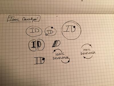 Blog Logo / Branding Exploration logo branding sketching draw blog concept ionic