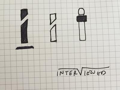 Interviewed branding branding logo sketch