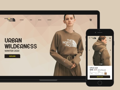 Urban wilderness-responsive e-commerce website ui web typography minimal flat design app