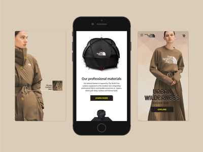 Urban wilderness web art minimal design branding ui graphic design flat typography app