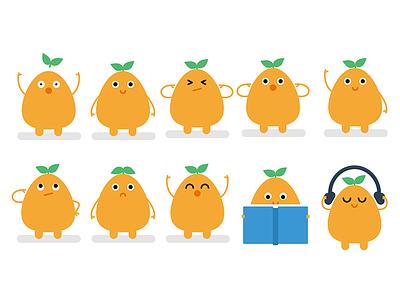 Po Character Sheet expressions character sheet plant mascot illustration flat cute alien