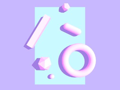 Shapes on a Plane 3dfordesigners geometric primitives shapes c4d cinema 4d c4dfordesigners 3d