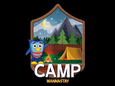 Camp Wannastay - Series Logo kidmin kidspring series logo newspring camp hoot owl preschool