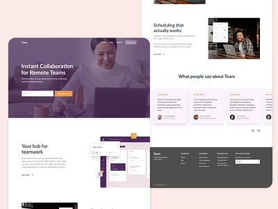 Team Collaboration collaboration team responsive design ux design ui design web design