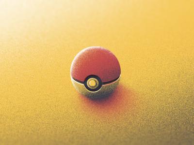 Caught Em All? light pixel texture grain illustration ball catch catch em pokeball pokemon