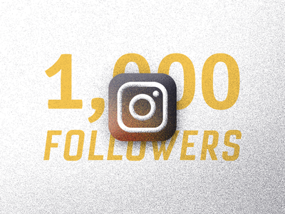 1,000 Followers icons grain accomplishment milestone followers texture illustration instagram