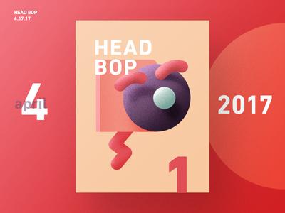 RNDM Poster 1 - Head Bop lighting geometric animation vector print poster illustration random daily