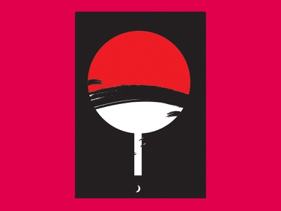 Uchih Clan anime icon flat illustration minimal vector design artwork art