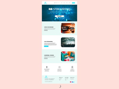 RB STREAMING ( landig page ) ux ui branding photoshop