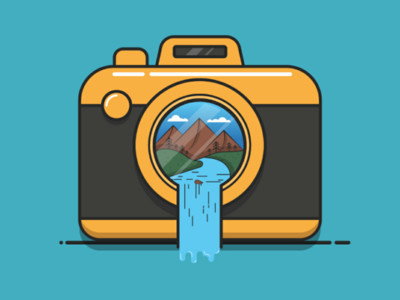 Nature Camera Illustration vector flat design illustrator