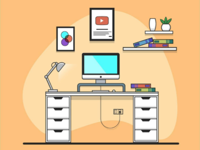 Youtube Setup Illustration vector flat design illustration