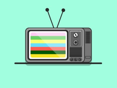 Retro Television flat design illustrator vector
