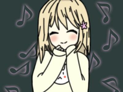 Happy anime girl cute anime