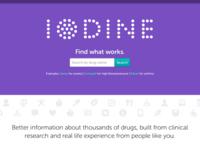 Iodine.com homepage
