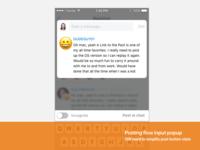 Reaction input (iOS)