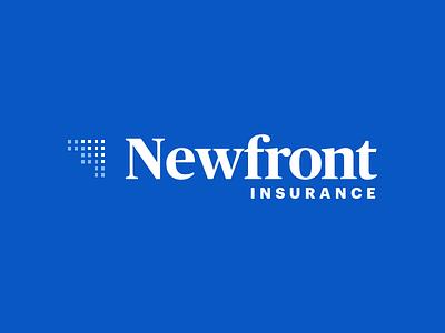 Newfront Insurance identity modern insurance identity logo brand brokerage insurance newfront