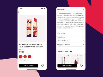 Sephora mobile app uxdesign uxui ux ui design ui  ux cosmetic product card beauty product beauty mobile ui mobile design mobile app design mobile app mobile app uiux uidesign ui figma design