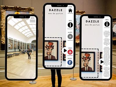 AR App experience for a museum social media redisign graphic design design