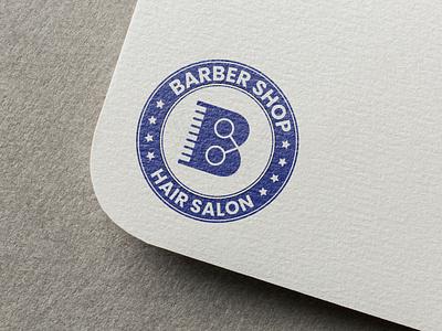 Barber Shop Logo Design razor cut barber shop graphic design salon logo hair logo barber logo