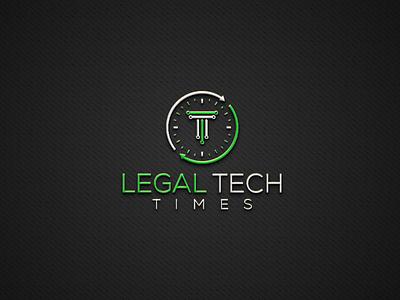 Legal tech time logo tech law lawyer law logo legal tech time attorney lawtech legal tech weights