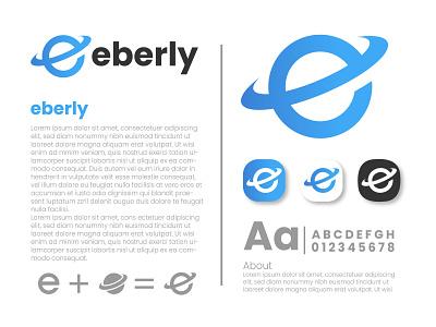 eberly logo design orbit digital eberly logo maker logo idea branding graphic design earth network worldwide abstract modern logo letter world tech technology system logo logo design