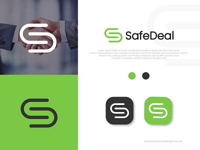 SafeDeal Logo Design design company logo business creative logo letter branding logo maker logo idea simple minimalist minimal logo modern logo safedeal dealing deal safety safe logo design logo graphic design