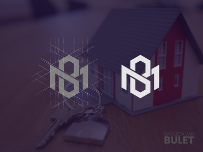 MB Or BM Monogram creative