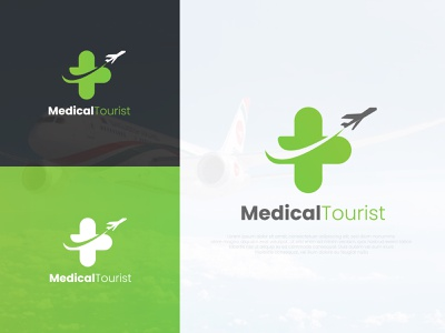 Medical Tourist Logo Design aircraft