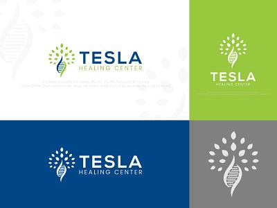 Tesla Healing Center Logo Design healing