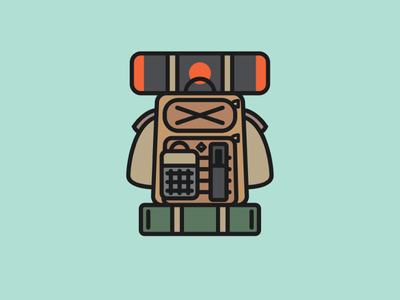 Backpack adventure outdoors camping minimal simple abstract backpack backpacking ui logo design icon