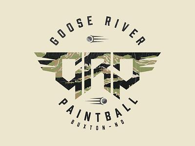GRP Paintball Field logo icons icon-design camo military paintball geometric branding type logo