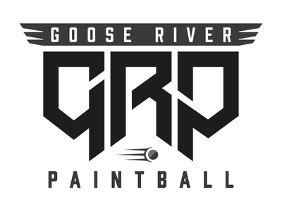 GRP Paintball Field logo - Square sports military paintball geometric branding logo brand square