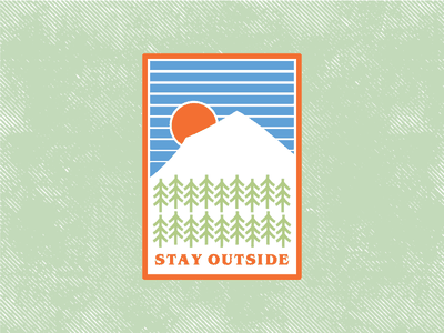 Stay Outside - Patch Concept patch game outdoors adventure camping nature logo icon brand badge illustration