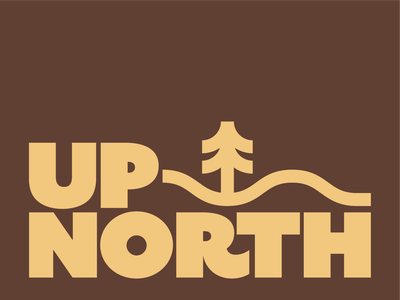 UP NORTH sans simple thick lines camping adventure vector minimalist outdoors nature geometric badge typography minimal branding logo icon illustration