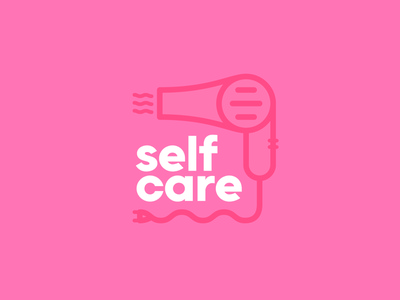 Self Care 01 typography self branding mental health self care thick lines geometric badge minimal logo icon branding illustration