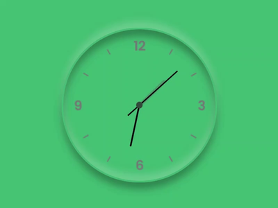 Neumorphic Clock animations animated website design website web design css3 uidesign javascript animation ui design webdesign clock neumorphic neumorphism neumorph